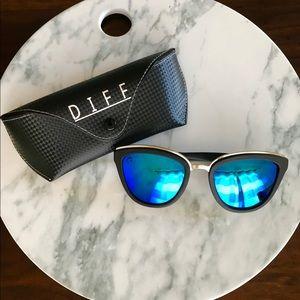 DIFF Eyewear Sunnies || Rose || Blue Polarized